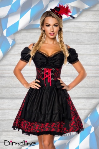premium jacquard Dirndl with blouse