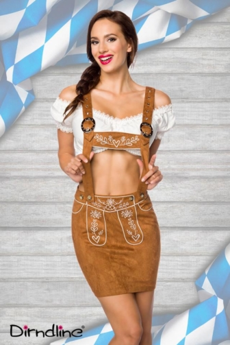 bavarian mini skirt with embroidery